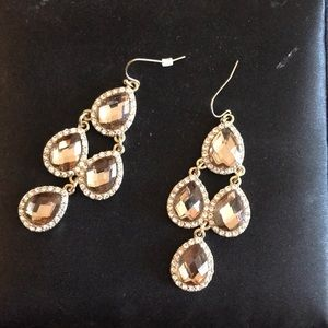 Champagne dangle earrings